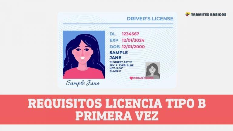 Obtener Licencia Tipo b