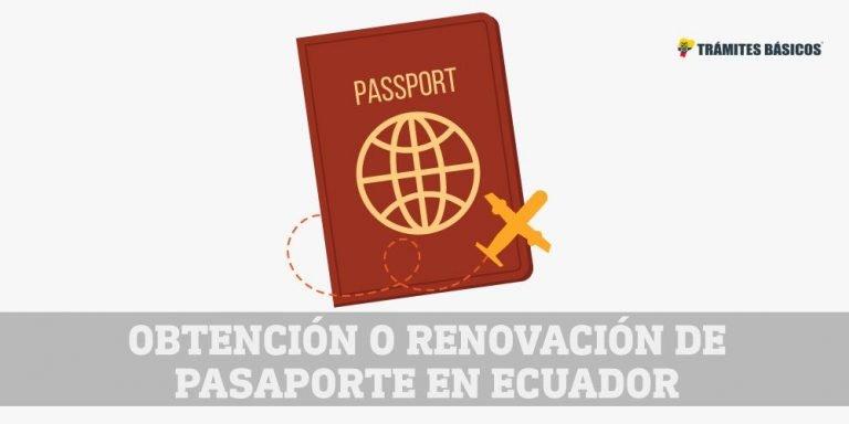 sacar o renovar para pasaporte en Ecuador