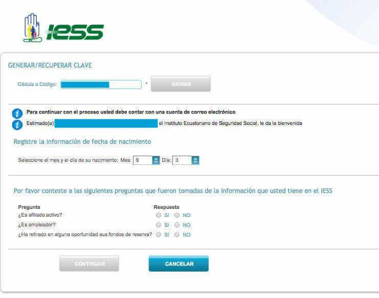 solicitar clave de afiliado IESS
