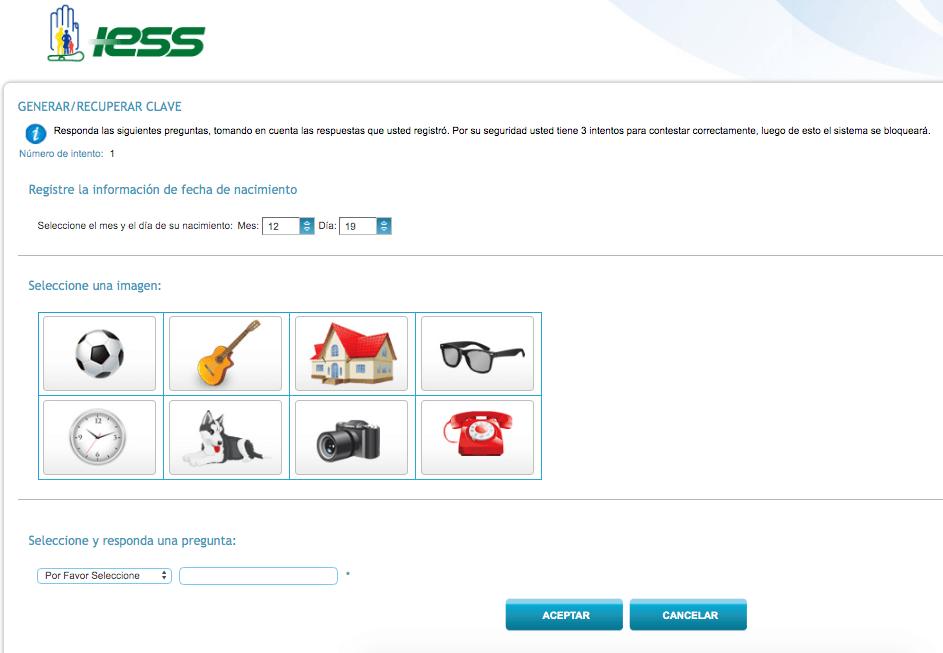 recuperar clave del IESS