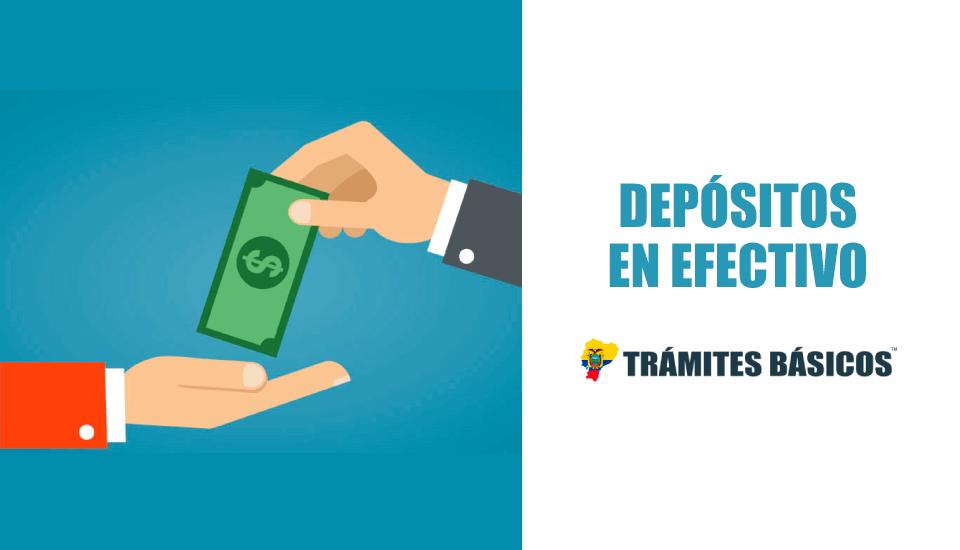 Cómo hacer depósitos en efectivo en ventanilla - Bancos Ecuador