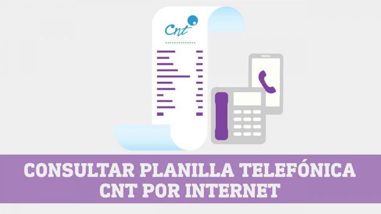 Consultar planilla telefonica CNT por Internet