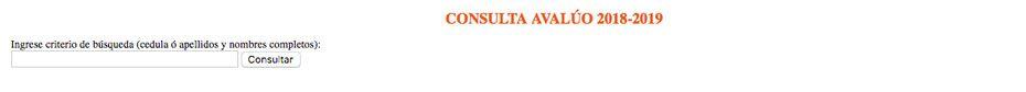 Consulta impuesto predial Ibarra