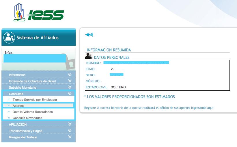 consulta de aportes IESS