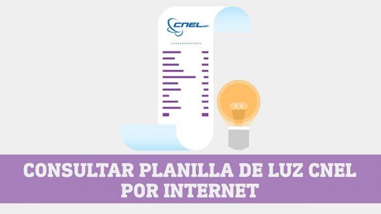 Consultar planilla de luz CNEL por Internet