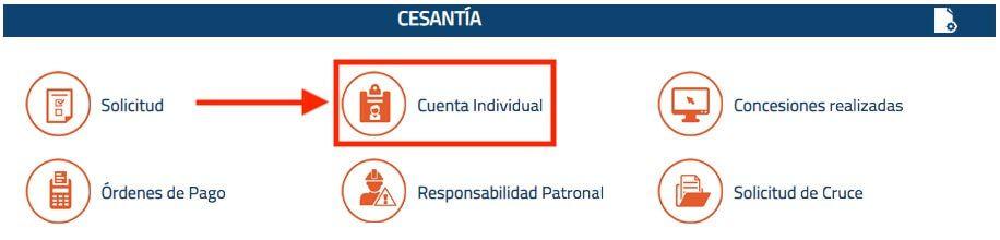Consultar cuenta individual de cesantia