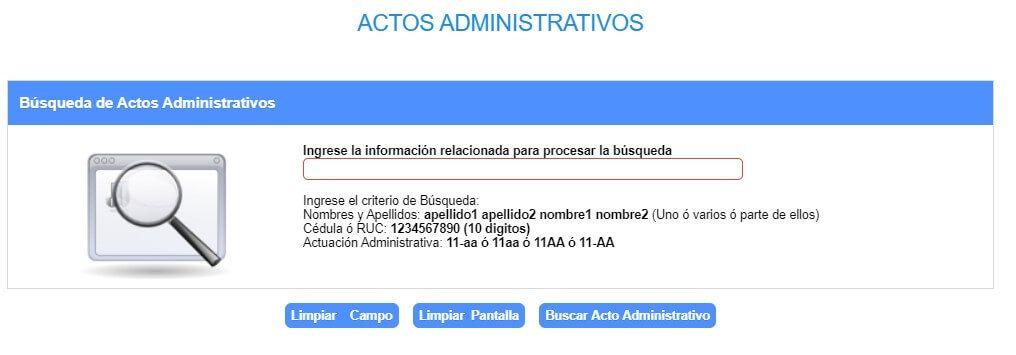 Consulta de actos administrativos