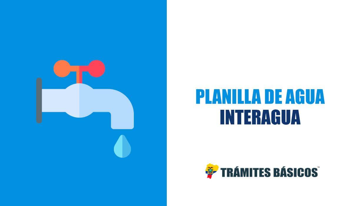 Consultar planilla de agua Interagua Guayaquil