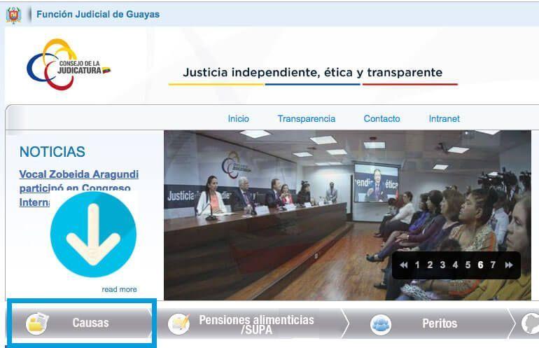 causas función judicial guayas