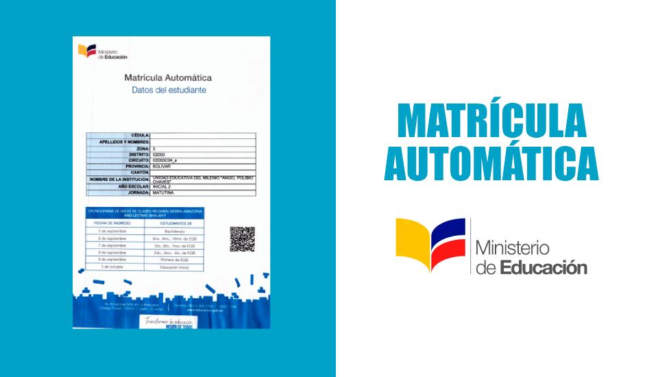 Matrícula Automática 2019 | Imprimir Certificado de Matrícula Automática