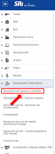 Devolución impuesto a la renta