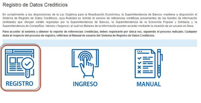registro datos crediticios