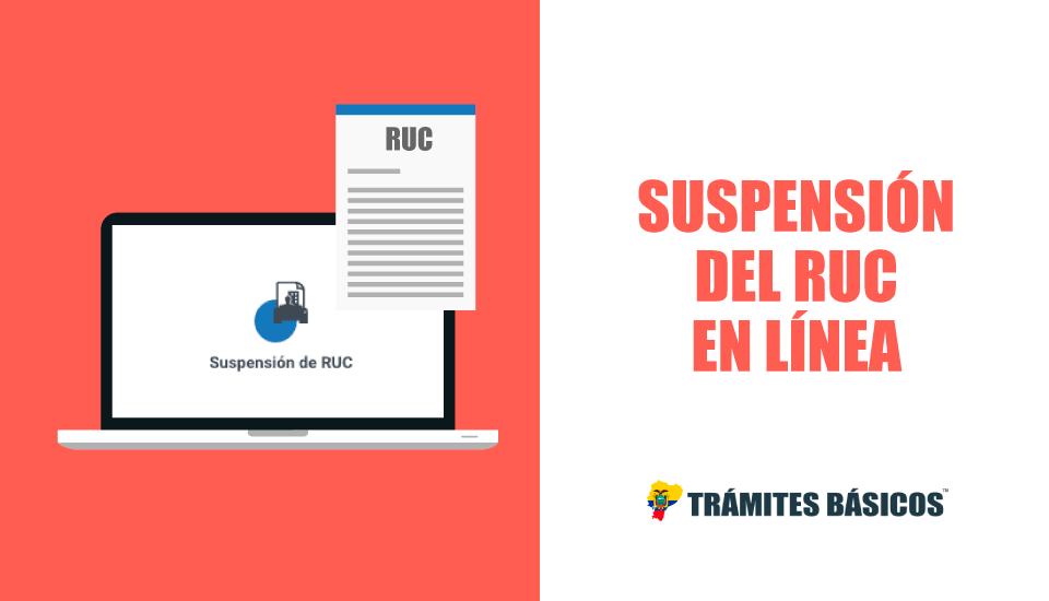 Suspensión del RUC en línea » SRI EN LÍNEA