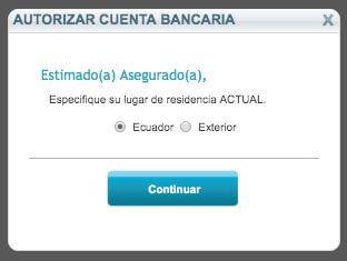 residencia cuenta bancaria
