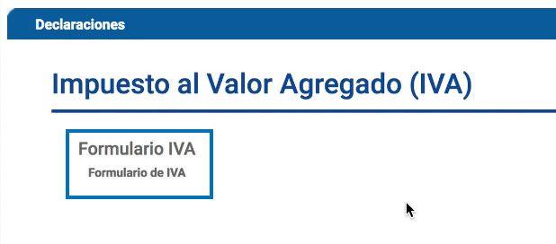 Formulario del IVA