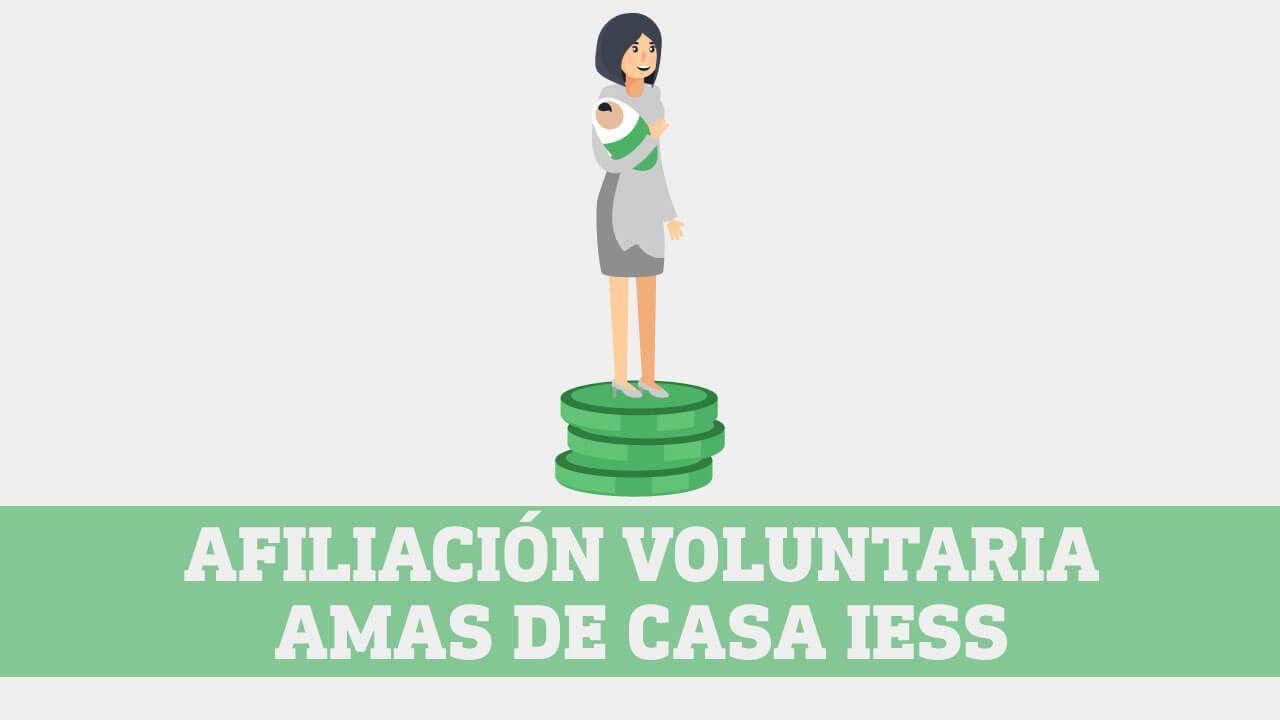 Afiliacion voluntaria amas de casa IESS