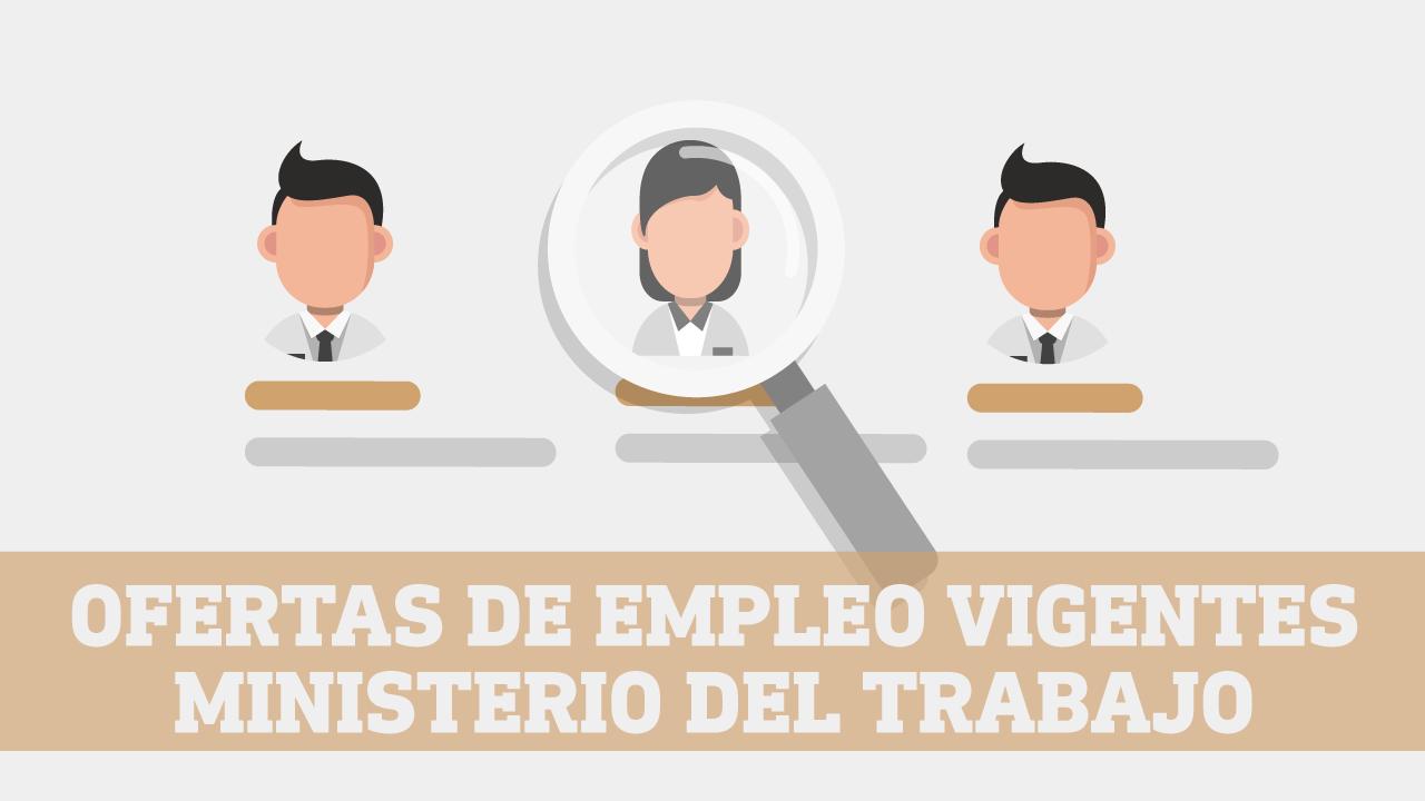 Ofertas de empleos Ministerio de Trabajo socio empleo