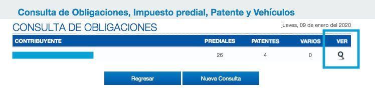 Resumen de prediales Quito contribuyente