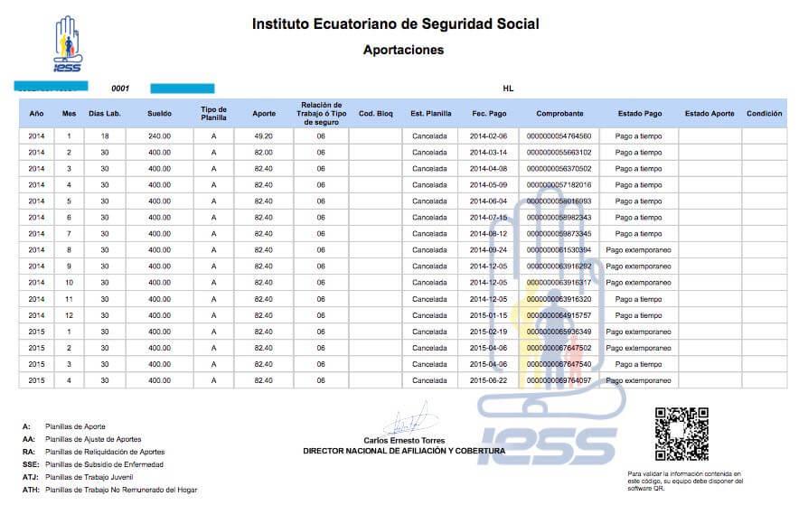 aportaciones IESS acumuladas