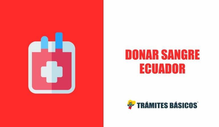 donar sangre MSP Cruz Roja Ecuador