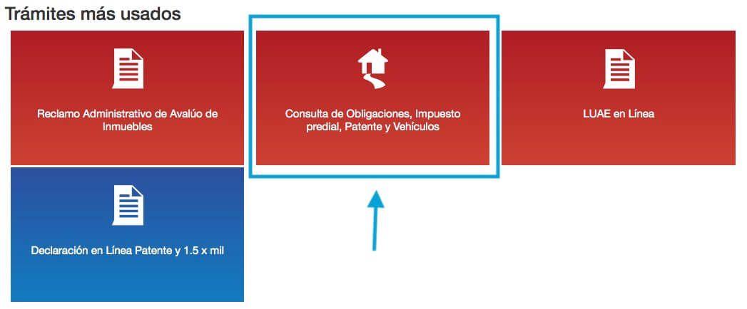 Consulta de Obligaciones, Impuesto Predial, Patente y Vehículos