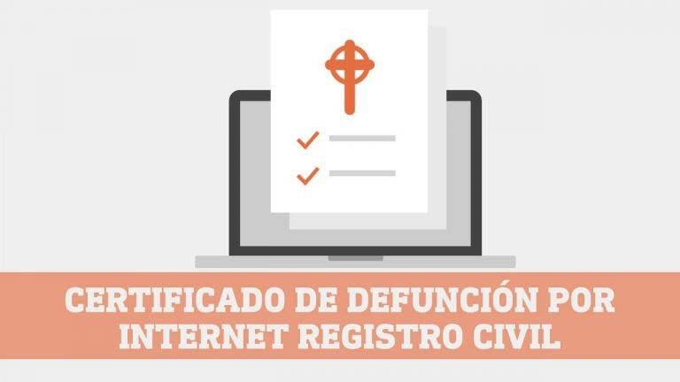 Certificado de Defuncion online del Registro Civil