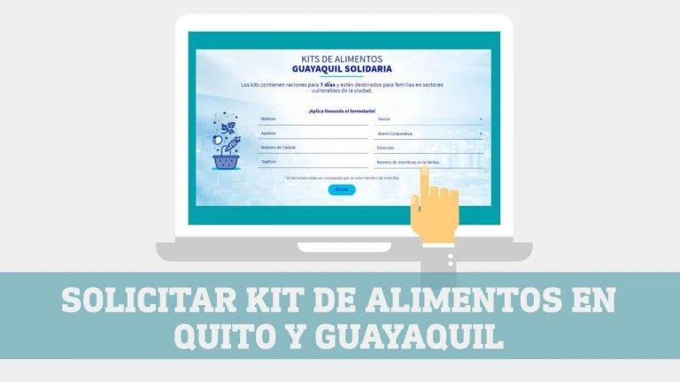 Solicitar Kit de alimentos Municipio de Quito y Municipio de Guayaquil