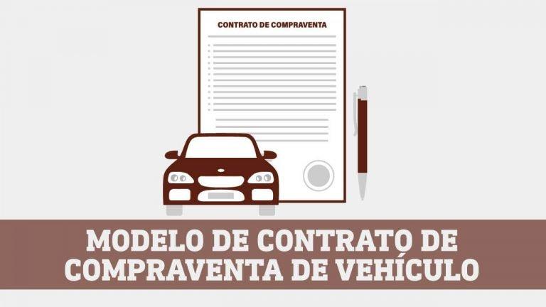 Modelo de contrato de compraventa de vehiculo