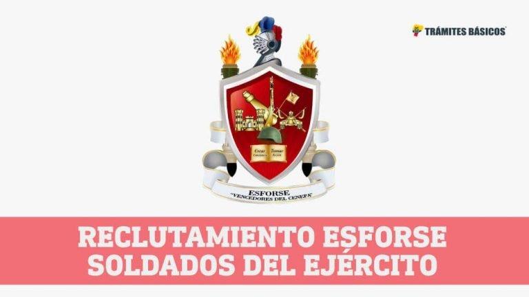 Reclutamiento ESFORSE Ecuador