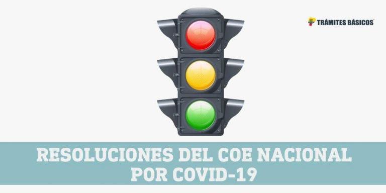 Resoluciones del COE Nacional Ecuador por COVID-19