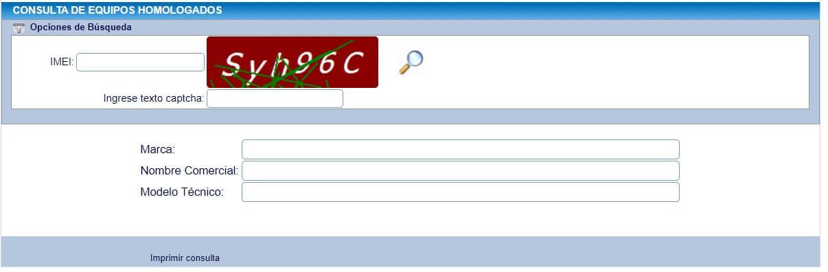 Verificar código IMEI Ecuador