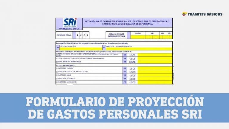 proyección gastos personales