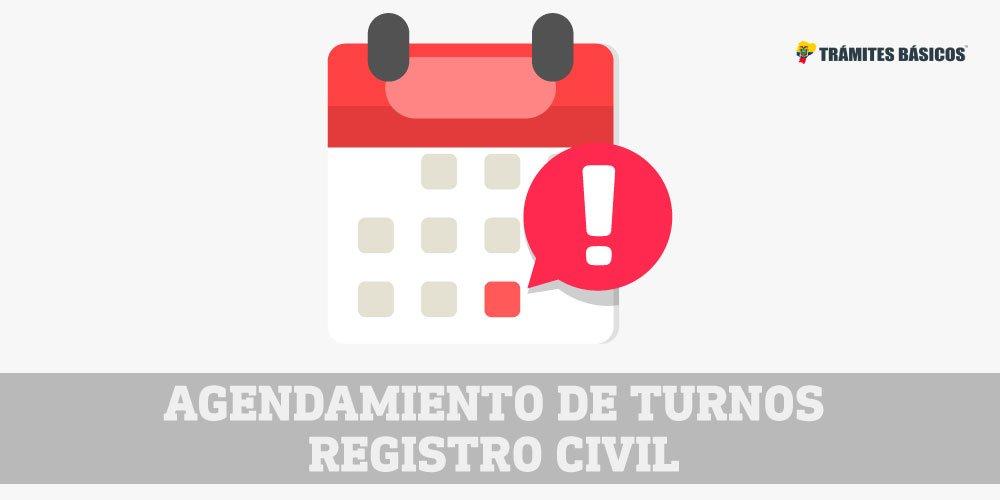 Agendamiento de turnos Registro Civil